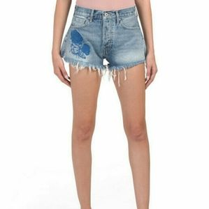 LEVI'S FRAYED HR SHORTS